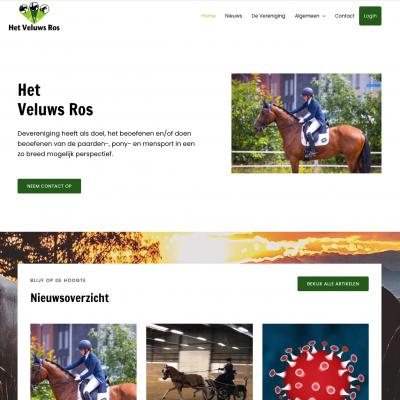 Nieuwe website voor Het Veluwsros – Webdesigner